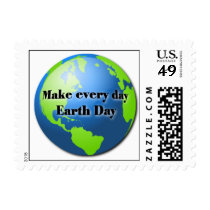 Make every day Earth Day postage stamp