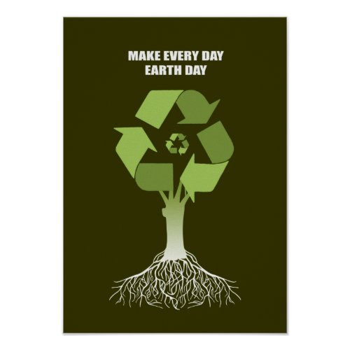 MAKE EVERY DAY EARTH DAY zazzle_print