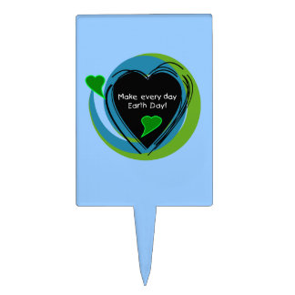 Make Every Day Earth Day Rectangle Cake Toppers