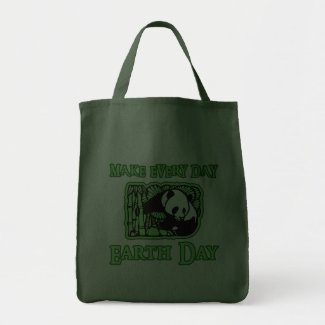 Make Every Day Earth Day with Panda Totebags bag