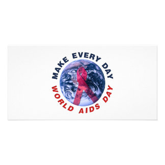 Make Every Day World AIDS Day Photo Card Template