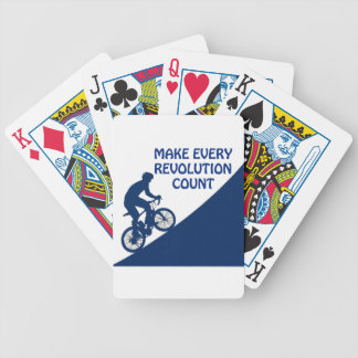 Make every revolution count bicycle playing cards