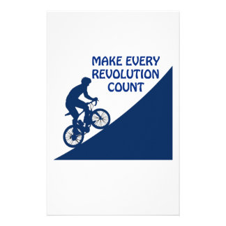 Make every revolution count stationery