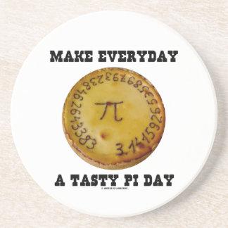 Make Everyday A Tasty Pi Day (Pi On Baked Pie) Drink Coaster