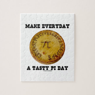 Make Everyday A Tasty Pi Day (Pi On Baked Pie) Jigsaw Puzzle