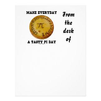 Make Everyday A Tasty Pi Day (Pi On Baked Pie) Letterhead
