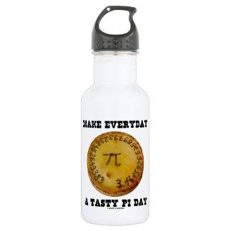 Make Everyday A Tasty Pi Day (Pi On Baked Pie) 18oz Water Bottle