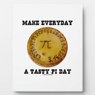 Make Everyday A Tasty Pi Day (Pi On Baked Pie) Plaque