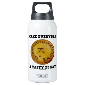 Make Everyday A Tasty Pi Day (Pi On Baked Pie) SIGG Thermo 0.3L Insulated Bottle
