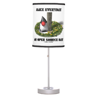Make Everyday An Open Source Day Earth Day Java Desk Lamp