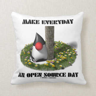 Make Everyday An Open Source Day Earth Day Java Throw Pillow