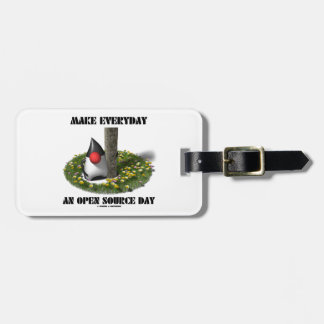 Make Everyday An Open Source Day (Java Duke) Tags For Luggage