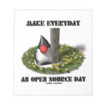 Make Everyday An Open Source Day (Java Duke) Scratch Pads
