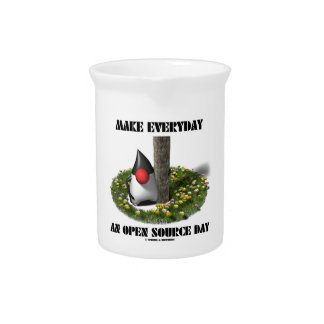 Make Everyday An Open Source Day (Java Duke) Drink Pitcher