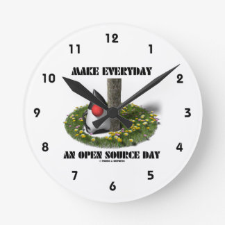 Make Everyday An Open Source Day (Java Duke) Round Clock