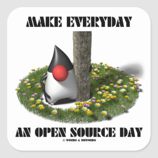 Make Everyday An Open Source Day (Java Duke) Square Sticker