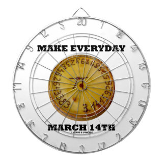Make Everyday March 14th (Math Pi Pie Humor) Dartboard With Darts