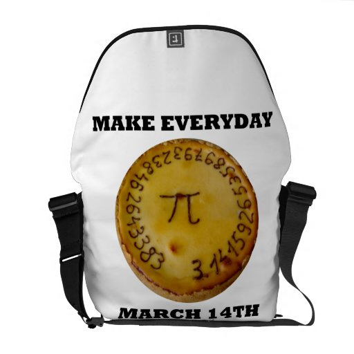 Make Everyday March 14th (Pi On A Pie) Messenger Bag