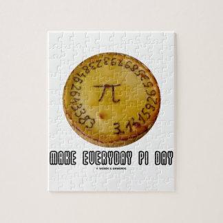 Make Everyday Pi Day (Mathematics Pi / Pie Humor) Jigsaw Puzzle