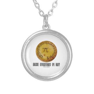 Make Everyday Pi Day (Mathematics Pi / Pie Humor) Personalized Necklace