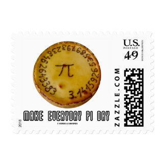 Make Everyday Pi Day (Mathematics Pi / Pie Humor) Postage