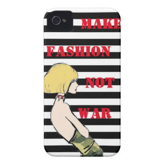 Make Fashion Not War! iPhone 4 Case-Mate Cases