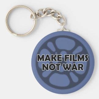 Make Films Not War Basic Round Button Keychain