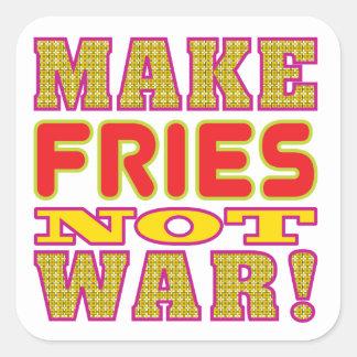 Make Fries Square Sticker