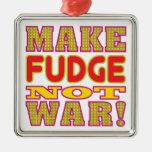 Make Fudge Silver-Colored Square Decoration