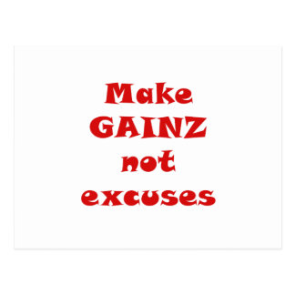 Make Gainz not Excuses Postcard