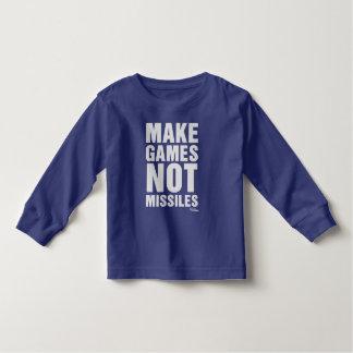 Make Games Not Missiles - Gamer Video Game Toddler T-shirt