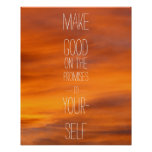 Make good on the promises to yourself posters