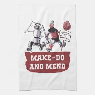 Make hace y repara el pato de costura de costura toalla de mano