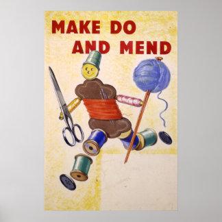 Make hace y repara el poster, 1939-1945
