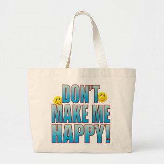 Make Happy Life B Large Tote Bag