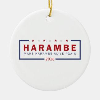 Make Harambe Alive Again Ceramic Ornament