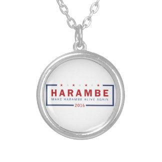 Make Harambe Alive Again Silver Plated Necklace