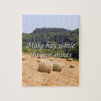 Make hay while the sun shines hay bales,Spain Jigsaw Puzzle