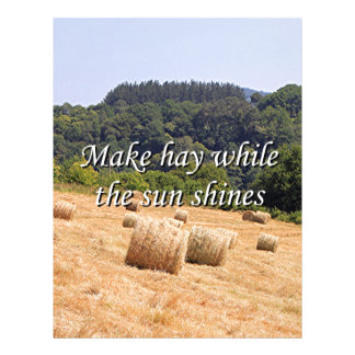Make hay while the sun shines hay bales,Spain Letterhead