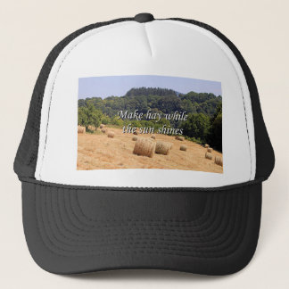 Make hay while the sun shines hay bales,Spain Trucker Hat