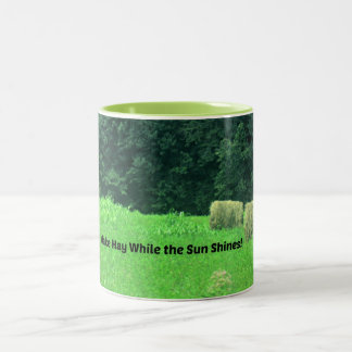 Make Hay While the Sun Shines Two-Tone Coffee Mug