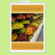 Make Healthy Choices Card