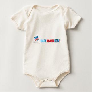 Make history Elect Obama Now. Baby Bodysuit