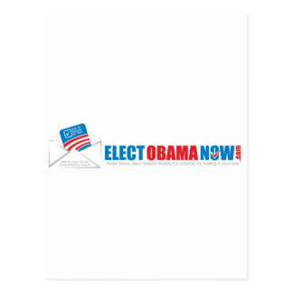 Make history Elect Obama Now. Postcard