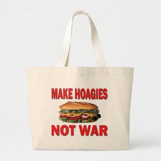 MAKE HOAGIES NOT WAR CANVAS BAGS