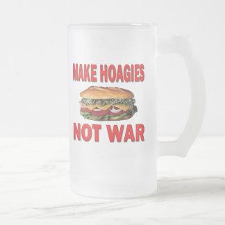MAKE HOAGIES NOT WAR FROSTED GLASS BEER MUG