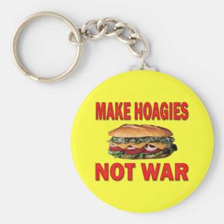 MAKE HOAGIES NOT WAR KEY CHAINS