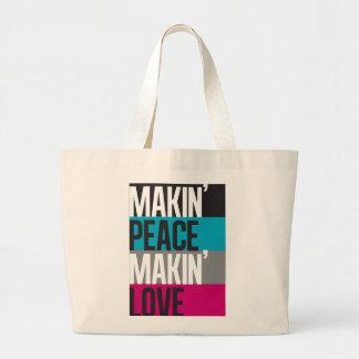 Make-in'Peace Make-in'Love Large Tote Bag