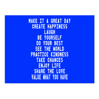 Make It A Great Day Graphic Design By Artinspired Postcards