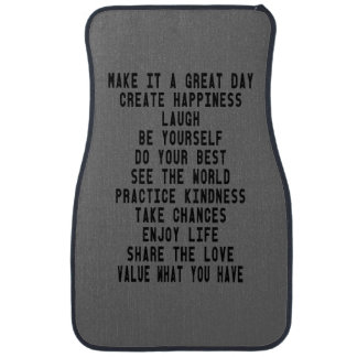 Make It A Great Day Inspirational Car Mats